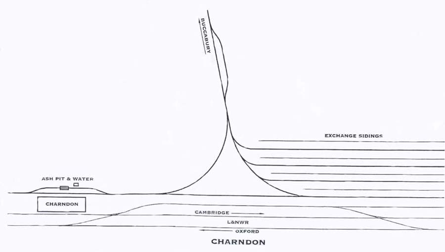 A drawing of the Charndon Station and the Exchange sidings
